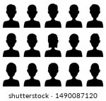 people icons set isolated on... | Shutterstock .eps vector #1490087120