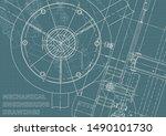 engineering. mechanical... | Shutterstock .eps vector #1490101730