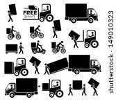delivery icons over white... | Shutterstock .eps vector #149010323