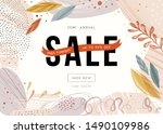 sale sign design in... | Shutterstock .eps vector #1490109986