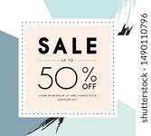 vector design for sale web... | Shutterstock .eps vector #1490110796