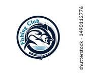 fishing badge logo template... | Shutterstock .eps vector #1490112776