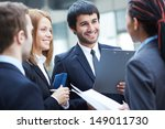 group of business partners... | Shutterstock . vector #149011730