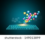computer keyboard as symbol of... | Shutterstock . vector #149013899