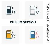 Filling Station Outline Icon....