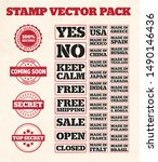 stamps vector pack 37 design | Shutterstock .eps vector #1490146436