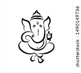 ganesha the lord of wisdom... | Shutterstock .eps vector #1490149736