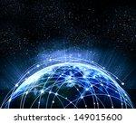 blue vivid image of globe.... | Shutterstock . vector #149015600