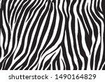 wild zebra wave pattern with... | Shutterstock .eps vector #1490164829