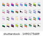 lgbt symbols in flat. pride...   Shutterstock .eps vector #1490175689