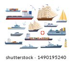 Big Set Of Maritime Ships At...