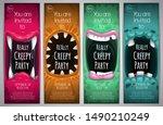 halloween vertical banners with ... | Shutterstock .eps vector #1490210249