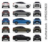 realistic suv car. cars set.... | Shutterstock .eps vector #1490224823