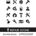 repair tools icon on white... | Shutterstock .eps vector #1490232689