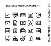 business and management  vector ... | Shutterstock .eps vector #1490251499