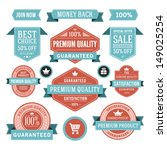 vector vintage sale labels and... | Shutterstock .eps vector #149025254