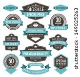 vector vintage sale labels and... | Shutterstock .eps vector #149025263
