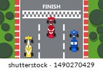 race track car top view vector...   Shutterstock .eps vector #1490270429