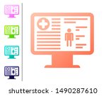 coral medical clinical record...   Shutterstock . vector #1490287610