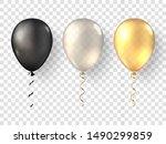 black  white gold realistic...   Shutterstock . vector #1490299859