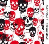 vector pattern with skulls... | Shutterstock .eps vector #149030549
