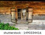Wooden Hut H Tte Farm Window In ...