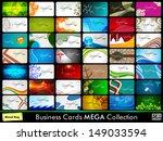 professional business card set.   Shutterstock .eps vector #149033594