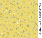 cute floral pattern in the... | Shutterstock .eps vector #1490343746