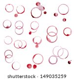 Collection Various Wine Stains White - Fine Art prints