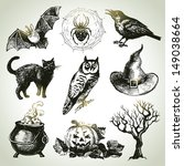 hand drawn halloween set  | Shutterstock .eps vector #149038664
