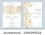 wedding card and invitation... | Shutterstock .eps vector #1490395016