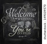wedding lettering welcome to... | Shutterstock .eps vector #149039570