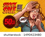 shock sale  the image of a... | Shutterstock .eps vector #1490423480