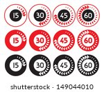 simple timers  timer  clock...   Shutterstock .eps vector #149044010