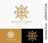 luxury vector emblem in a...   Shutterstock .eps vector #1490445146