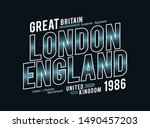 Typography design, London, England, great britain, t-shirt print and other uses, vector illustration