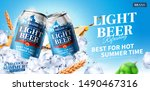 summer light beer ads design...   Shutterstock .eps vector #1490467316