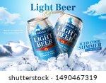 light beer ads design with... | Shutterstock .eps vector #1490467319
