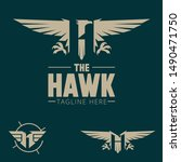 H Logo. Letter Based Hawk Bird...