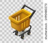 vector shopping cart icon in...