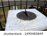 An Ancient Sundial On Display...