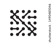 molecule network icon chip... | Shutterstock .eps vector #1490485046
