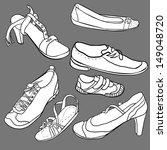 set of shoes  vector... | Shutterstock .eps vector #149048720