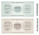 gift certificate  voucher ... | Shutterstock .eps vector #149049608