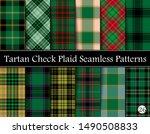 set green tartan plaid scottish ... | Shutterstock .eps vector #1490508833