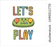 video games themed t shirt... | Shutterstock .eps vector #1490511770