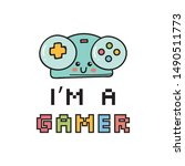 video games themed t shirt... | Shutterstock .eps vector #1490511773