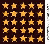 golden star logo template ... | Shutterstock .eps vector #1490515256