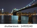 evening view of the brooklyn... | Shutterstock . vector #14905240