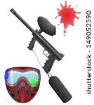 Paintball Set Vector...